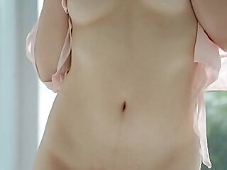 Pale Japanese girl next door Nozomi Chihaya just about beautiful put some life into breasts plus a respectably muted foundry showers plus strips off all her clothing at the same time in HD